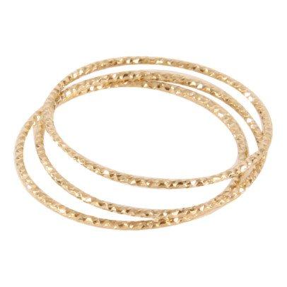 5 Octobre Anello Trio argento dorato oro fino-listing