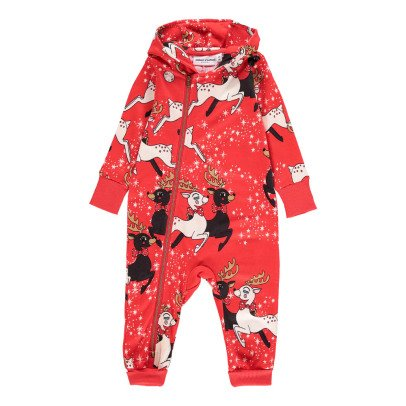 Mini Rodini Organic Cotton Reindeer Zip-Up Jumpsuit-product