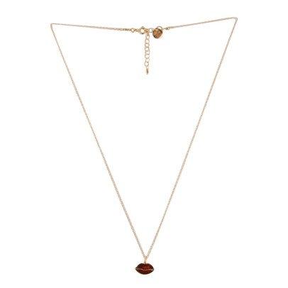 5 Octobre Collar Plata Dorado Oro Fino Lips-listing