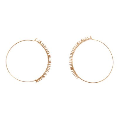 5 Octobre My Large Gold Over Silver Hoop Earrings-listing