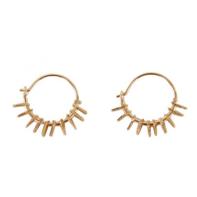 5 Octobre My Small Gold Over Silver Hoop Earrings-listing