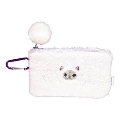Keora Keora Fluffy Cat Face Pouch White-listing