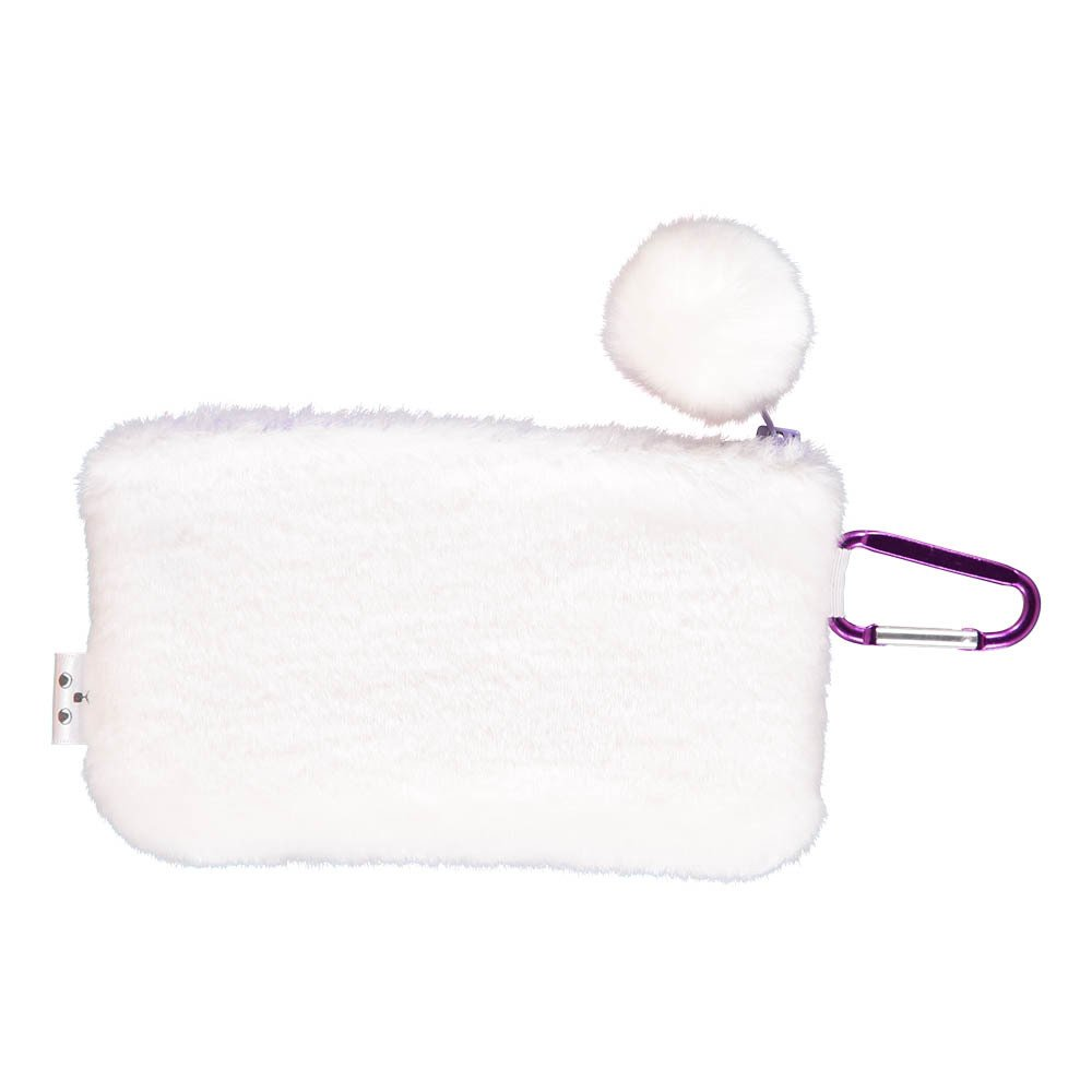 Fluffy Cat Face Pouch White-product