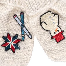 Will Woody Be Skier Woollen Mittens-listing