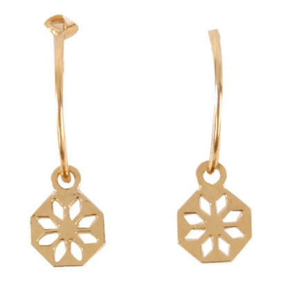 Titlee Bergen Barlow Gold Brass Earrings-listing