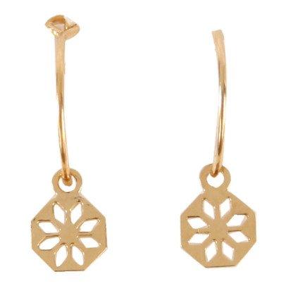 Titlee Bergen Barlow Gold Brass Earrings-listing