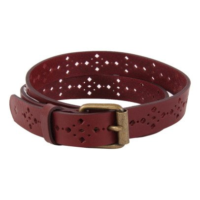 Sessun Honey Rider Perforated Leather Belt-listing