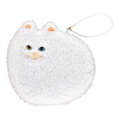 Keora Keora Pochette Large Fluffy Cat Blanc-listing