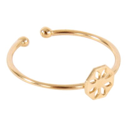 Titlee Bergen Gold Brass Ajustable Ring-listing