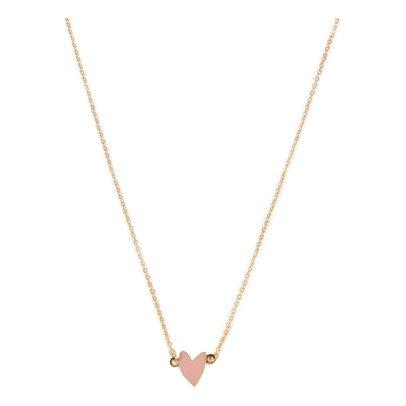 Titlee Collar Dorado Oro fino Corazón Cranberry-listing