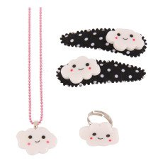 Pop Cutie Set de 2 trabas + anillo + collar nube-listing