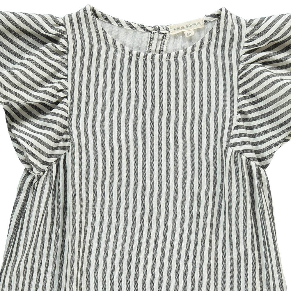 Hundred Pieces Stripe Butterfly Sleeve Dress-product