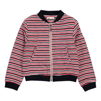 Hundred Pieces Stripe Jacquard Bomber Jacket-listing
