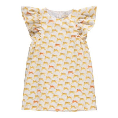 Hundred Pieces Tigers Buttlerfly Sleeve Dress-product