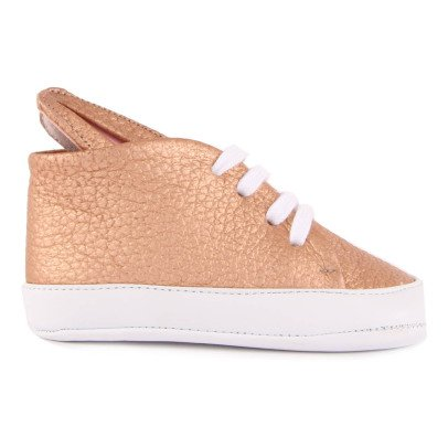 Minna Parikka Bunny Leather Lace-Up Trainers-listing