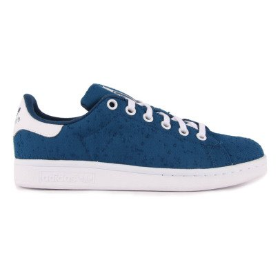 Adidas Canvas Lace-Up Stan Smith Trainers Navy blue-listing