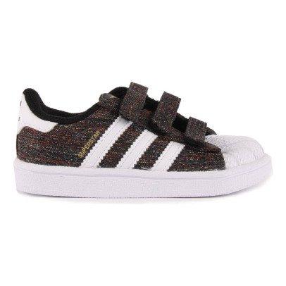 Adidas Scarpe da Ginnastica Canvas con Strappi Superstar Nero-listing