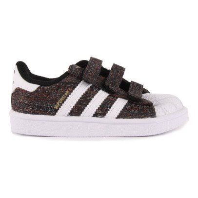 Adidas Zapatillas Canvas Jaspeadas Velcro Superstar Negro-listing