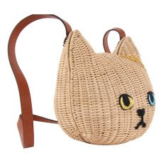 Keora Keora Cat Rattan Saddlebag Beige-product