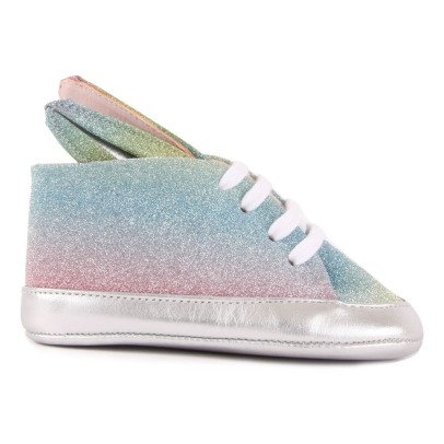 Minna Parikka Bunny Rainbow Leather Lace-Up Trainers-listing