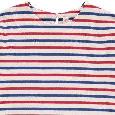 ANNE KURRIS Jungle Striped Japanese Striped Sweatshirt with 3/4 Length Sleeves-listing