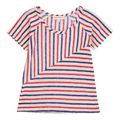 ANNE KURRIS Pia Striped Linen T-shirt-listing