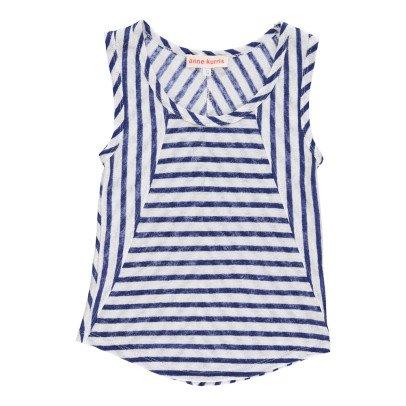 ANNE KURRIS Marcia Striped Linen Vest Top-listing