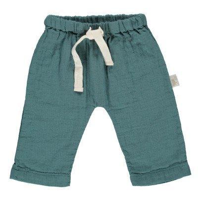 Poudre Organic Pantalón Abotonada Algodón Biológico Doble Gasa-listing
