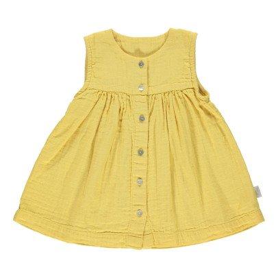 Poudre Organic Vestido Abotonado Algodón Biológico Doble Gasa-listing