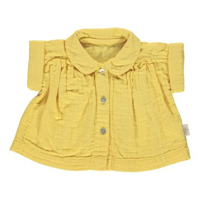 Poudre Organic Blusa Cuello Claudine Algodón Biológico Doble Gasa-listing