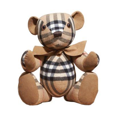 Burberry Teddy Bear with Tartan Detailing Camel-listing