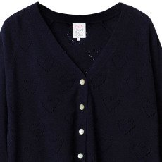 Little Karl Marc John Cardigan Manches 3/4 Cœurs Girly-listing