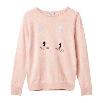 Little Karl Marc John Minny Cat Cashmere Jumper-listing