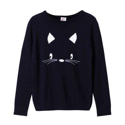 Little Karl Marc John Minny Cat Cashmere Jumper-product