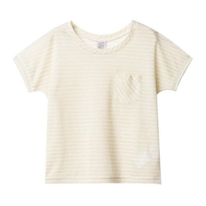 Little Karl Marc John Trendy Lurex Striped T-Shirt-listing