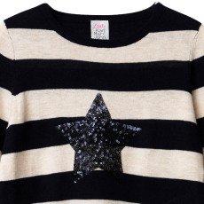 Little Karl Marc John Mommy Sequin Star Striped Jumper-listing