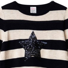 Little Karl Marc John Pull Rayé Etoile Sequins Mommy-listing