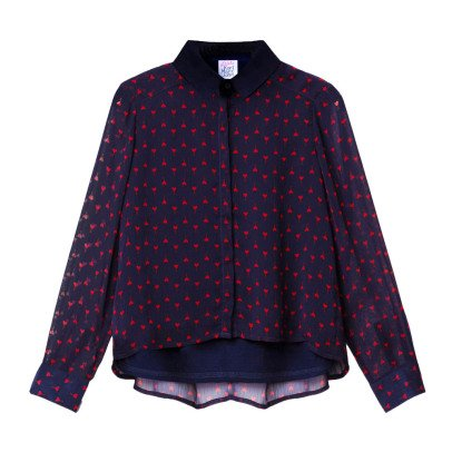 Little Karl Marc John Chicy Heart Blouse-listing