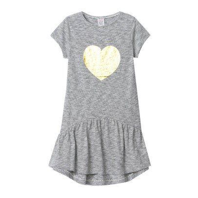 Little Karl Marc John Roomy Gold Heart Dress-listing