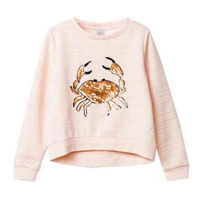 Little Karl Marc John Simply Sequin Crab Sweatshirt-listing