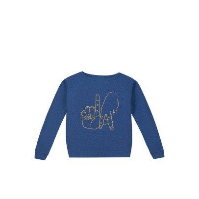 Maison Labiche LA Hand Embroidered Sweatshirt Blue-listing
