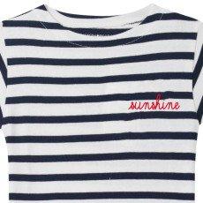 Maison Labiche Sunshine Embroidered Stripe T-Shirt Navy blue-listing