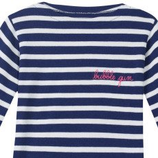 Maison Labiche Bubble Gum Embroidered Marinière  Navy blue-listing