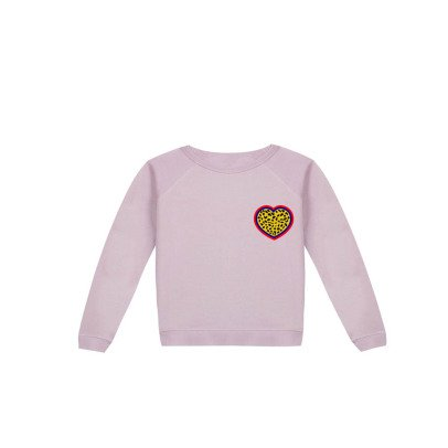 Maison Labiche Beaded Heart Sweatshirt Pale pink-listing