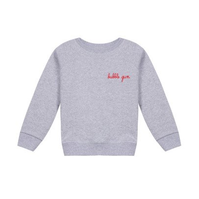 Maison Labiche Bubble Gum Embroidered Sweatshirt Heather grey-listing