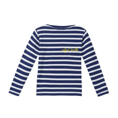 Maison Labiche Terrible Child Embroidered Marinière Navy blue-listing