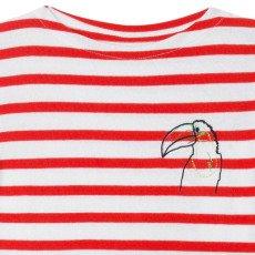 Maison Labiche T-Shirt Righe Uccello Rosso-listing