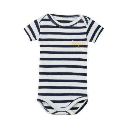 Maison Labiche Bonjour Embroidered Stripe Body Navy blue-listing