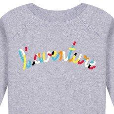 Maison Labiche Sweatshirt l'Aventure bestickt  Grau Meliert-listing
