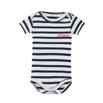 Maison Labiche Amour Embroidered Stripe Body Navy blue-listing